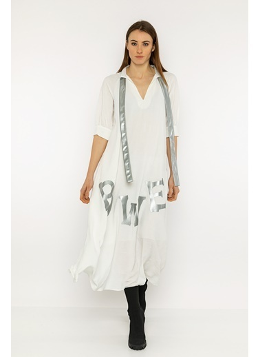 Berr-in  Tacita Elbise Beyaz
